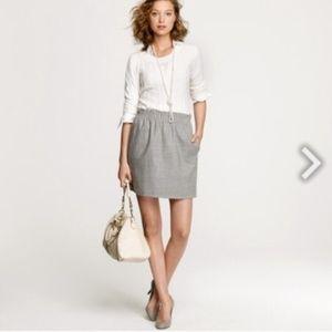 J. Crew Skirts - J, Crew Gray Wool Mini Skirt Stretch Waist 2